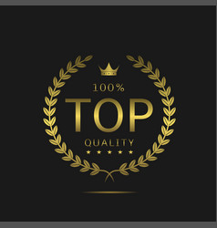 Top quality label vector