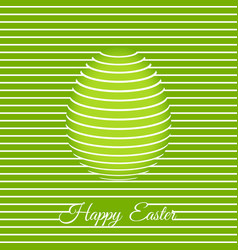 trendy 3d easter greeting card template with egg vector image