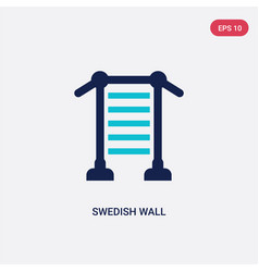 two color swedish wall icon from gym and fitness vector image