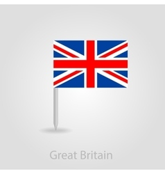 United Kingdom flag pin map icon vector image
