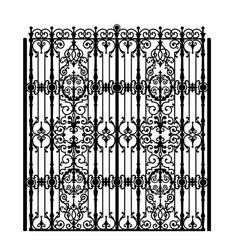 vintage metal gate vector image