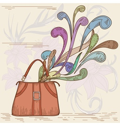 womans bag vector image
