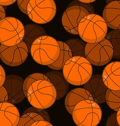 Basketball 3D seamless pattern Sports accessory vector image vector image