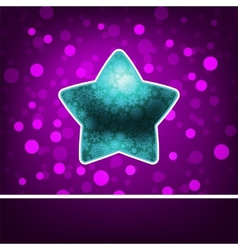 blue star on fiolet abstract happy new year eps 8 vector image