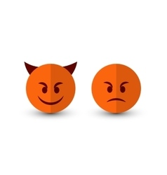 Evil emoticons set vector image vector image