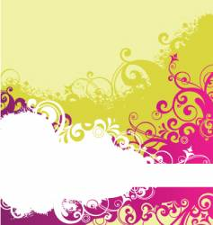 grunge floral flower background vector image