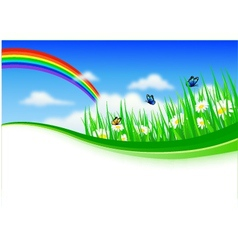 Nature background with gras vector