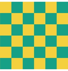 Yellow green chess board background vector