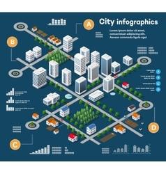 3D city isometric vector image