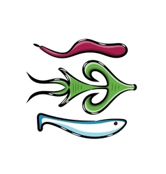 Fishing silicone bait vector image