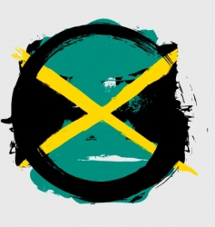Jamaica circle flag vector image vector image