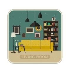 Living room grunge interior vector