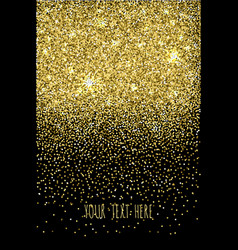 black background with falling glitter confetti vector image
