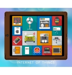 Internet of things flat icons set vector image vector image