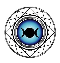 Triple goddess moon symbol- Wiccan symbol vector image