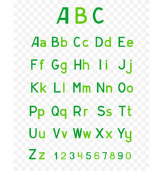 abc green alphabet vector image vector image