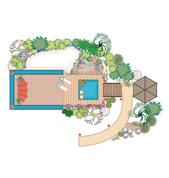 area for recreation vector image