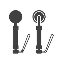 metal detector icon vector image vector image