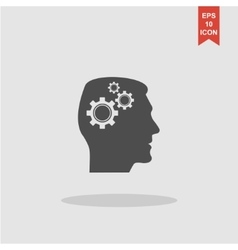 Pictograph of gear in head vector image
