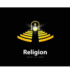 religion logo design template church or temple vector image