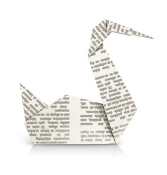 Swan origami toy vector