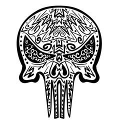 zentangle stylized skull freehand sketch vector image