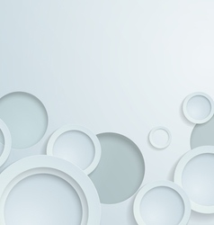 3D White Paper Circles Background vector