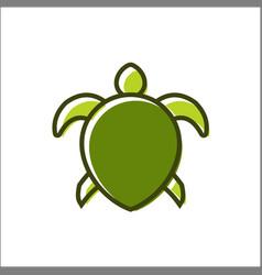 A turtle design logo animals vector