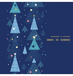 Abstract holiday christmas trees vertical frame vector