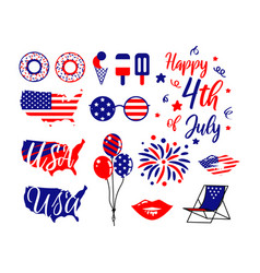 American independence day 4th july holiday clipart vector