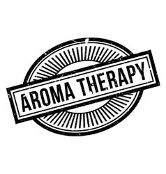 Aroma Therapy rubber stamp vector image