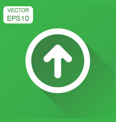 Arrow up icon business concept forward arrow vector