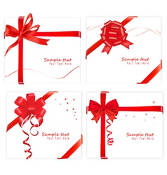 big set with bows and ribbons vector image
