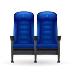 Blue Cinema Seats vector image