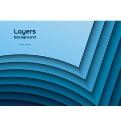 Blue Layeres vector image