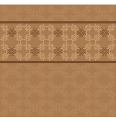 Brown floral lace pattern vector image