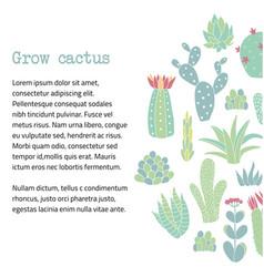 Cactus text banner vector