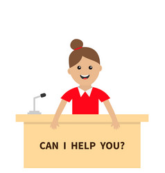 Can i help you women female girl people vector