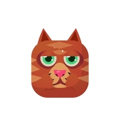 Cat Square Icon vector