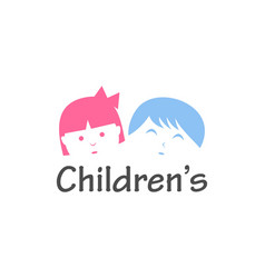 Childrens logo design vector