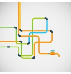 color abstract design tangled pipes eps vector image