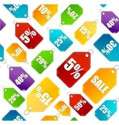 Color sale labels background pattern vector