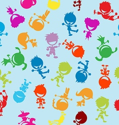 colorful kids pattern vector image