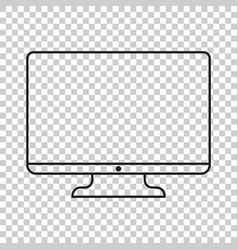 computer in line style monitor flat icon tv symbol vector image