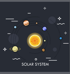 Concept solar or planetary system vector