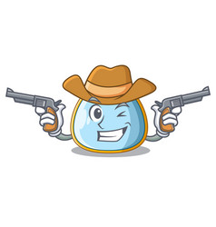 cowboy character baby bib for feeding toddler vector image