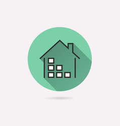 data warehouse icon for graphic and web design vector image