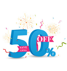 discount sale banner design vector image