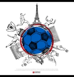drawing soccer background vector image