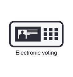 Electronic ballot box icon isolated on white vector